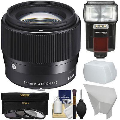 Sigma 56mm f/1.4 Contemporary DC DN Lens Bundle for Sony Alpha E-Mount Cameras