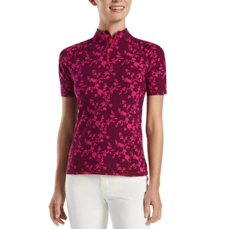 G/Fore Rosebud Quarter Zip Top Port/Rose S M XL Womens Golf Shirt GFore