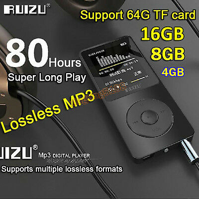 16GB 8G 4G RUIZU X02 Sport Mini Lossless HIFI MP3 Music Player Recorder FM Radio
