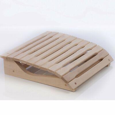 Spring Adjustable Sauna Headrest or Footrest in natural wood