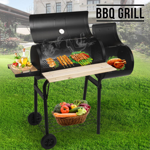 Portable Grill BBQ Charcoal Barbecue Smoker trailer W/cover