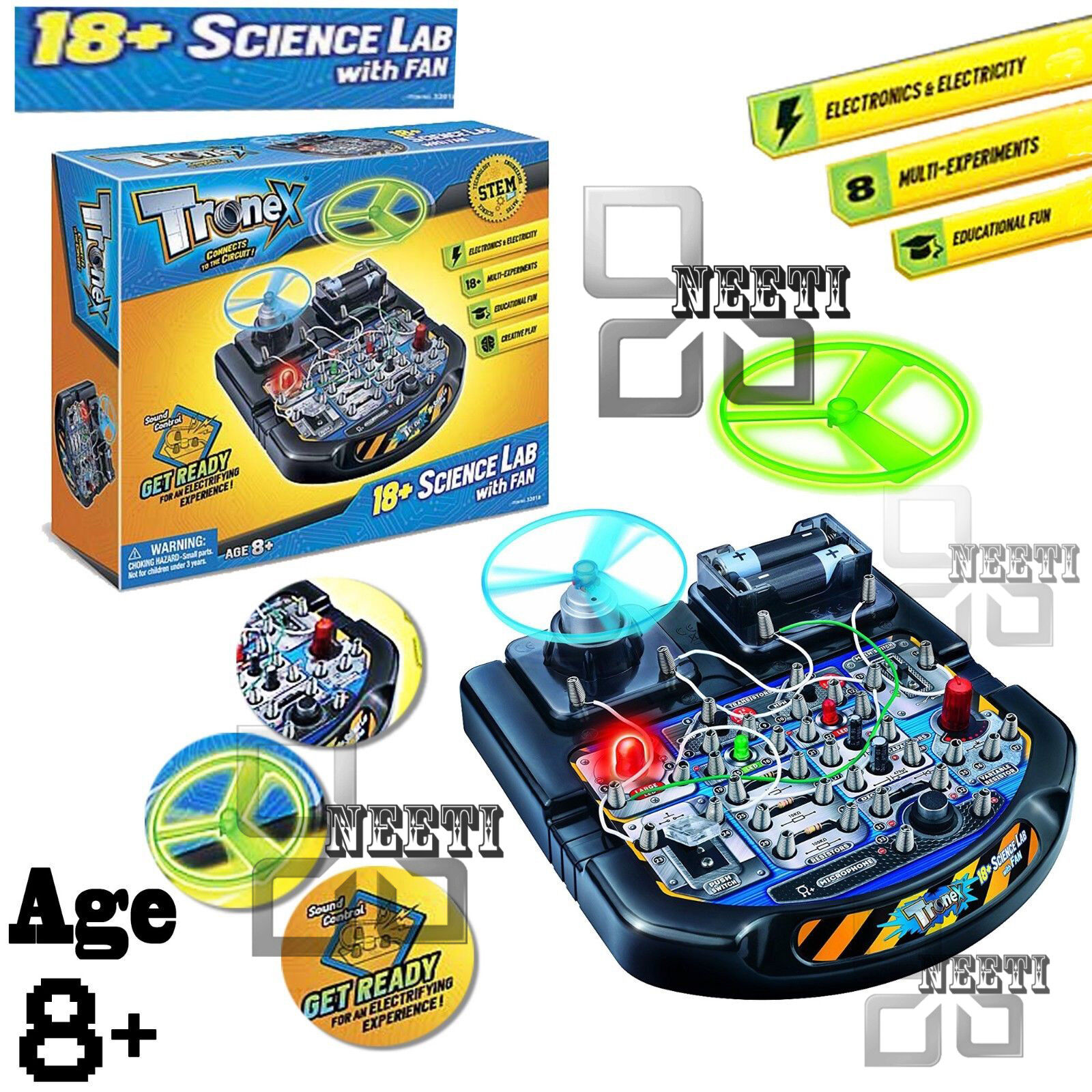 Children Electronic Educational 18 Science Experiment Lab Tronex Circuits For Kids Picture 2
