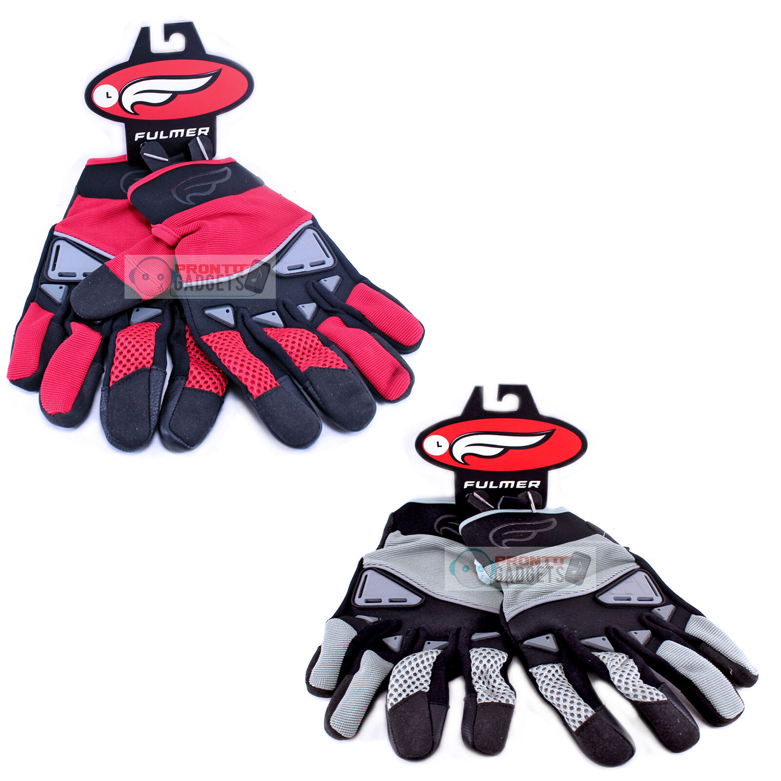 Fulmer Men's Motorcycle Gloves GT92 Gel Comfort Riding Hand Palm Protection