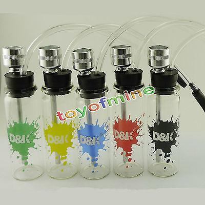 Bottiglia d'acqua del tubo Mini narghilé Shisha Tobacco Pipe tubo metallo Filtro