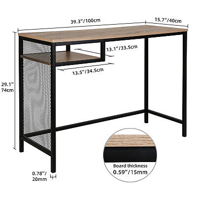 Industrial Sofa Table, Console Table with Shelves, 2-Tier,Corridor, Wood,Brown Furniture