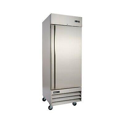 Peakcold Single Door Commercial Reach In Stainless Steel Freezer - 23 Cu Ft