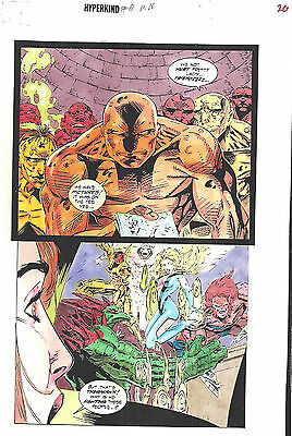 Clive Barker HYPERKIND #8 pg16 original hand-painted color guide art 1995 signed