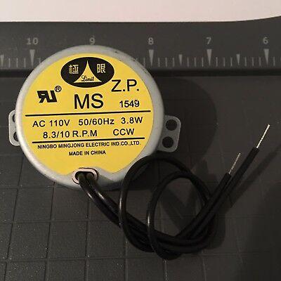 Synchronous Motor Ms Type Ul 110v Ccw 8-10 Rpm Ningbo Mingjong Electric