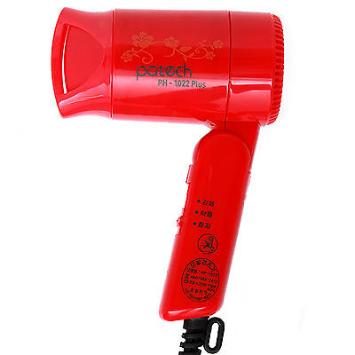Brand New Patech Travel Mini Hair Dryer Red 750w 220v Light Weight