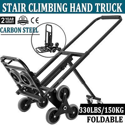 Heavy Duty Stair Climbing Cart 420 Lbs Capacity Hand Truck With Backup Wheels