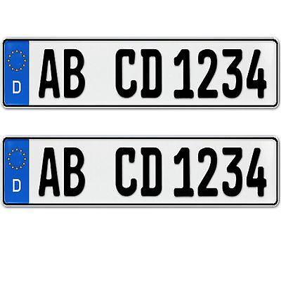 2 x Eurokennzeichen einzeilig Saison und historisch möglich 520 x 110 mm