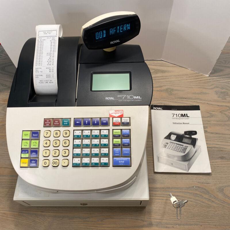 Royal Alpha 710ML Cash Register Money Management System 2 keys -WORKS SEE VIDEO!