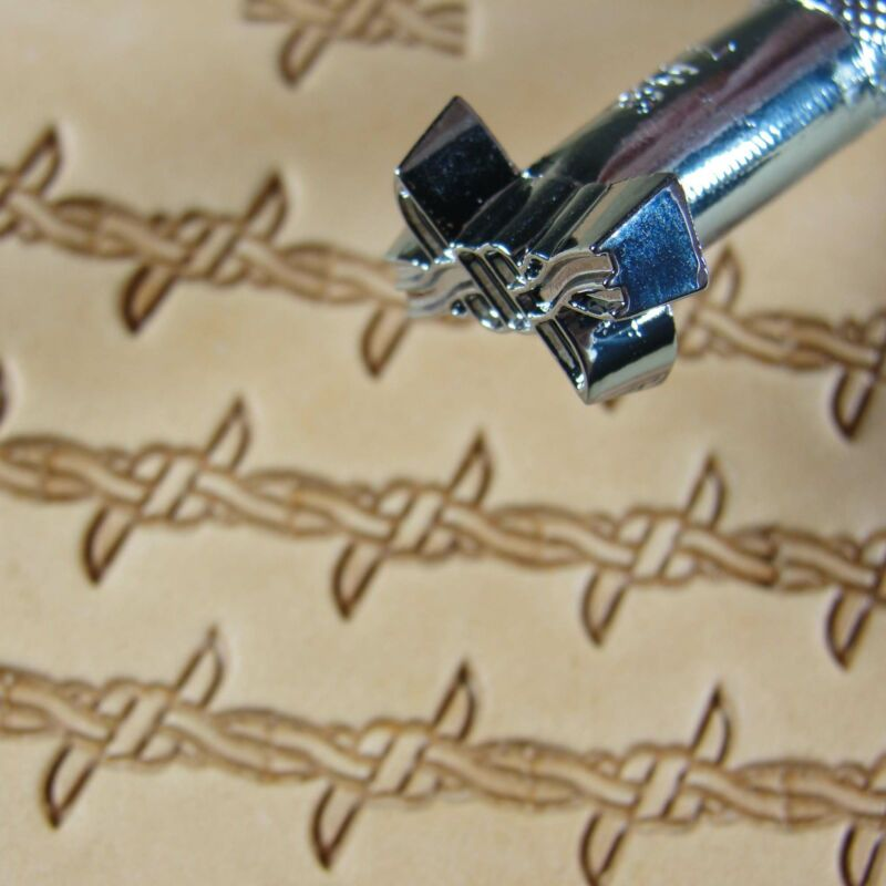 Leather Stamping Tool - Barbed Wire Border Stamp