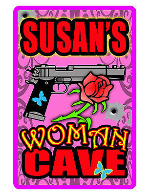 Personalized WOMEN CAVE Sign Printed with YOUR NAME Aluminum Sign GUN DD#200 - Cave Women