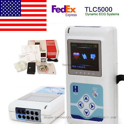 Usa 24h Dynamic Ecg Holter System Tlc5000 12 Channel Ecgekg Holter Recordersw