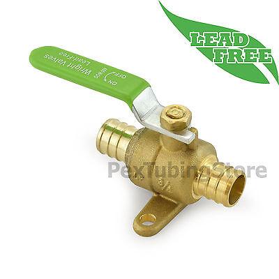 10 34 Pex Lead-free Brass Ball Valves W Drop Ears Full Port Crimp Style