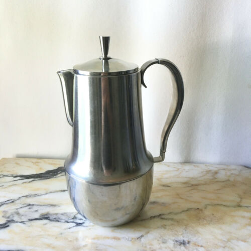 Vintage Georg Jensen Denmark Stainless Coffee Pot Server SALE