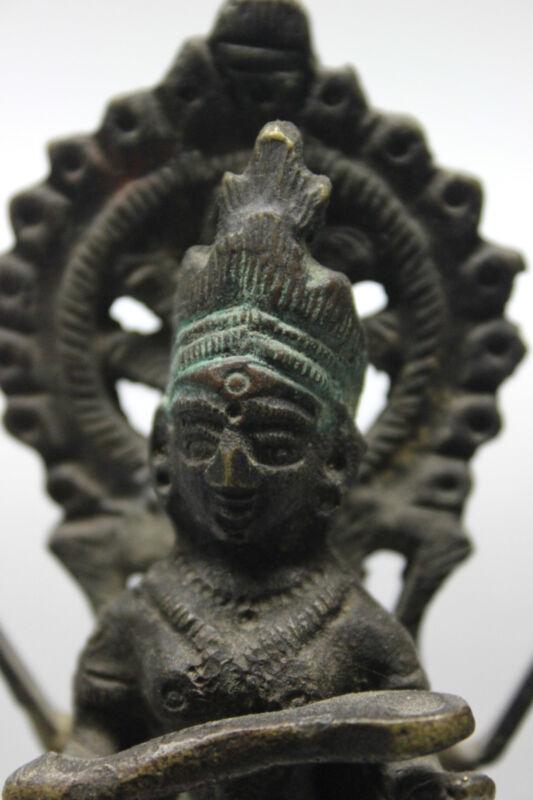 B.C.A.D. ART - 19th CENTURY BRONZE HINDU GODDESS: ANAPURAN