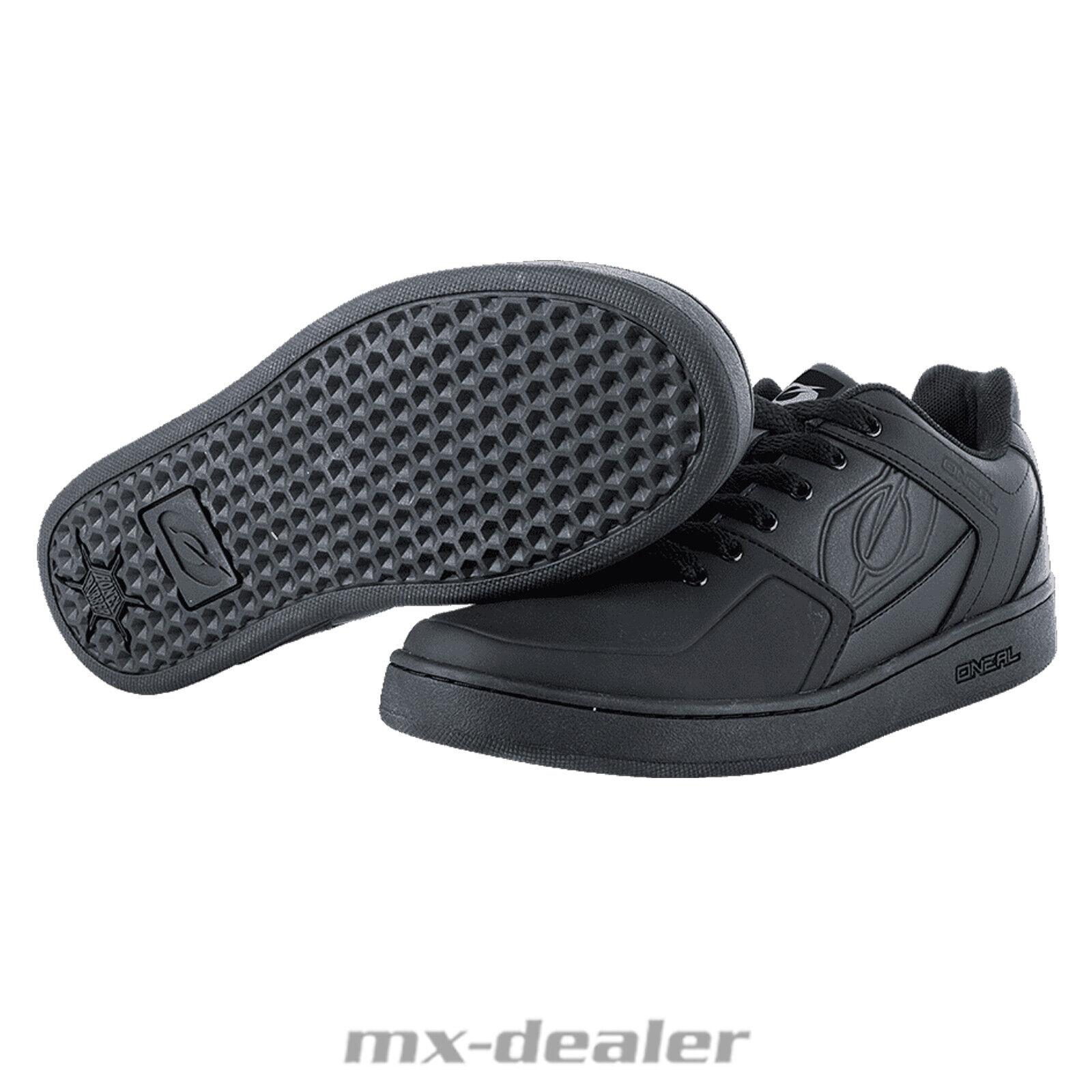 Oneal Stinger II Flat Pedal Schuhe schwarz-weiß MTB Skate BMX DH Mountainbike