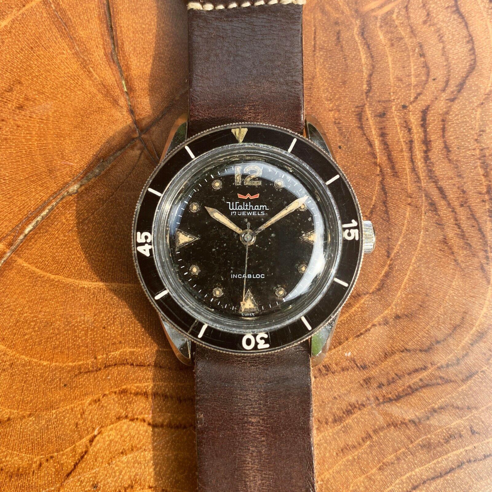 1959 Waltham (Blancpain) Bathyscaphe MC4 Vintage Dive Watch - watch picture 1