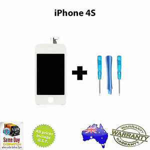 iPhone-4S-Replacement-LCD-Touch-Screen-Digitizer-LCD-Complete-Assembly-WHITE