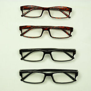4 PAIR LOT READING GLASSES CLEAR LENS MEN WOMEN NEW MAGNIFY RECTANGLE LP60V1