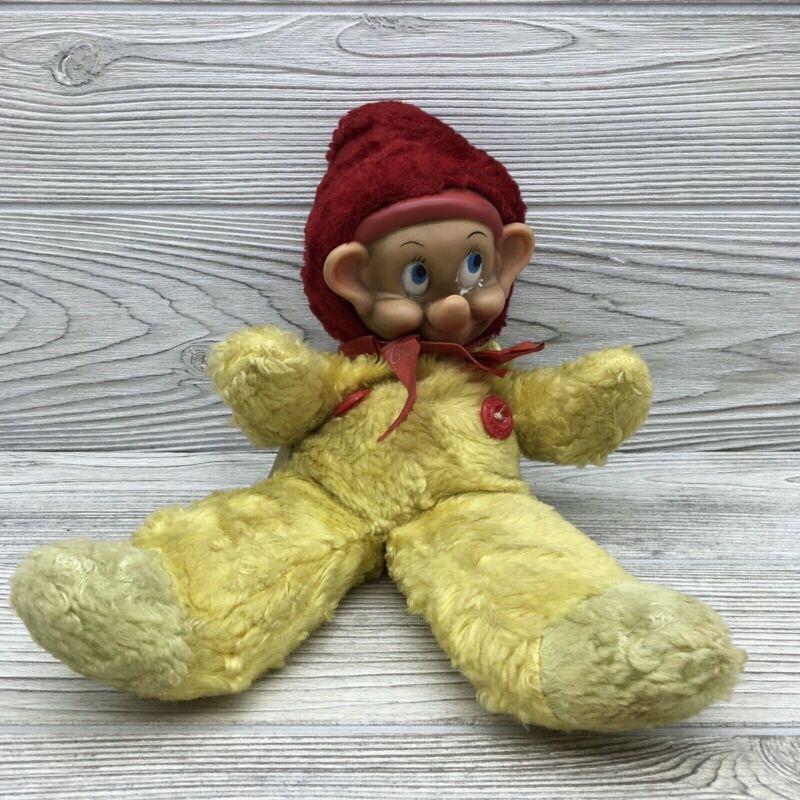Vintage Gund Walt Disney Productions Dopey Foam Rubber Face Tweak N Squeak Doll