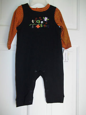 NURSERY RHYME 2 PIECE HALLOWEEN OUTFIT SNAP LEGS TRICK OR TREAT ROMPER SUIT