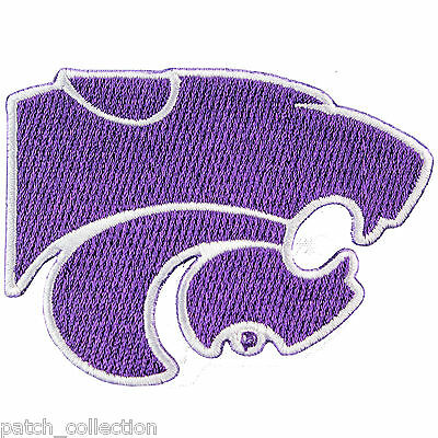 Kansas State Wildcats Primary Logo Embroidery Iron On Patch Hat Football -