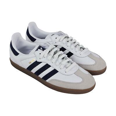 Adidas Samba Og Mens White Leather Lace Up Sneakers (Mens White Leather Sneaker)