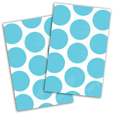 10 Polka Dot Spots Caribbean Blue Treat Loot Party Sweet Candy Paper Bags