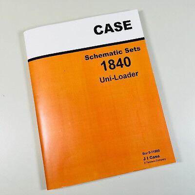 Case 1840 Uni-loader Skid Steer Shematics Sets Service Manual