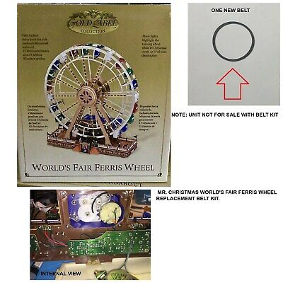 Mr Christmas Worlds Fair Ferris Wheel (Gold Label)- REPLACEMENT PART BELT Christmas Worlds Fair Ferris Wheel