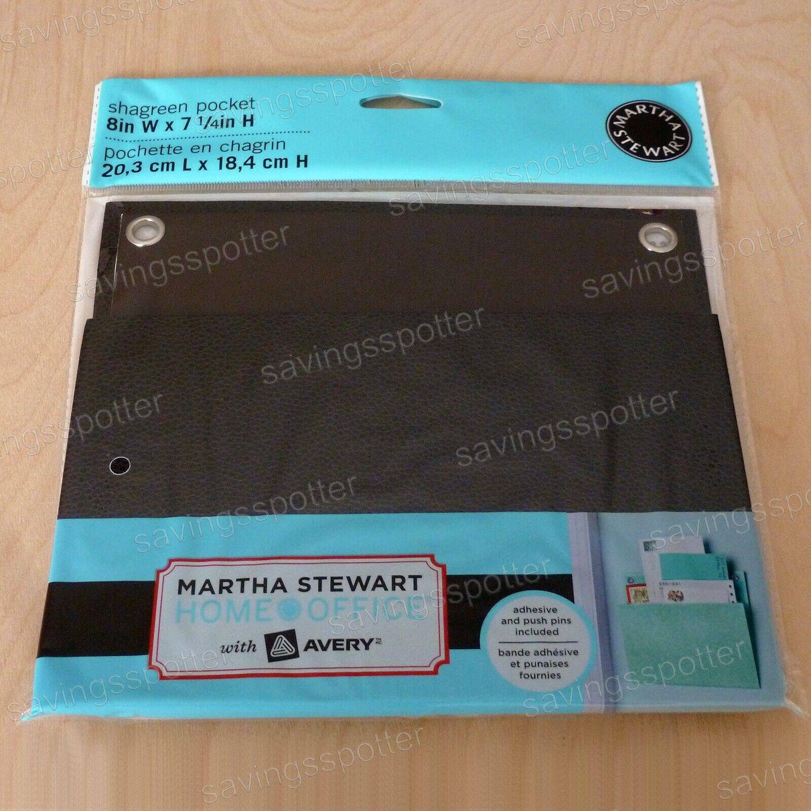 "Martha Stewart Home Office Avery LARGE Shagreen Wall Pocket 12/"" x 10-1//4/"" Mint"