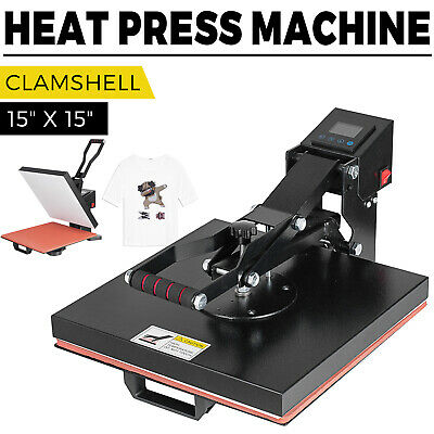 15x15 Led Digital Heat Press Machine For T-shirts Htv Transfer Sublimation