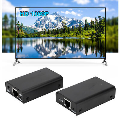 1080P POE CAT6/6A/7 HDMI1.3 To HDMI1.3 2in 1 Video Adapter TV Extender 60meters