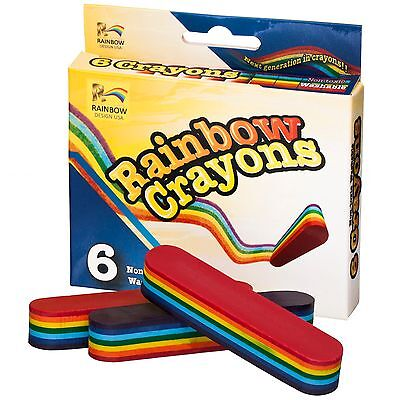 7 Color Rainbow (Multi-Color Rainbow Crayon Set, Washable Non-Toxic, 7 Bright Colors in each)