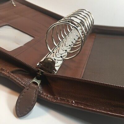 Day-timer Classic Leather Desk Planner Zipper Organizer Fits Franklin Covey