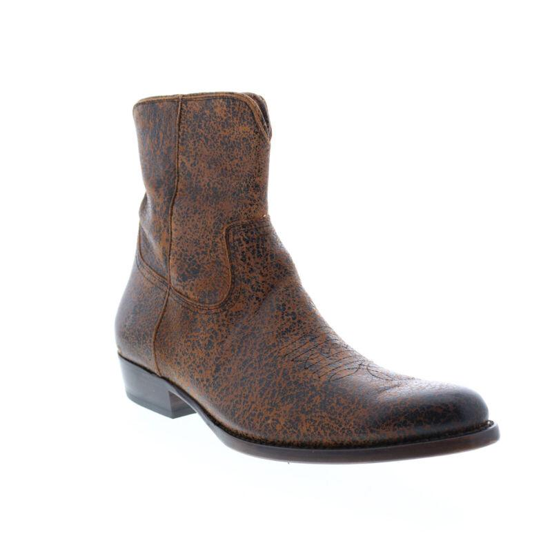 Frye Austin Inside Zip 80881 Mens Brown Leather Zipper Western Boots