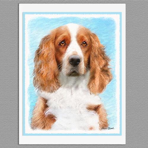 6 Welsh Springer Spaniel Dog Blank Art Note Greeting Cards