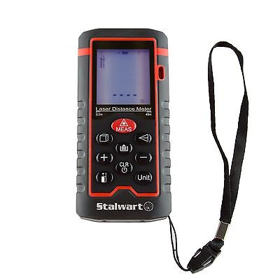 Stalwart Laser Distance Measuring Tool 40m Range Hand Held Easy To Use
