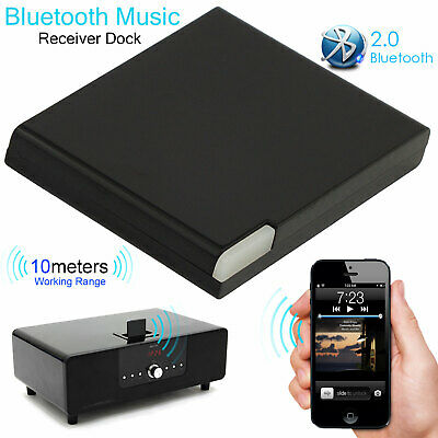 30Pin Wireless bluetooth A2DP Music Receiver Audio Adapter Dock For iPhone -