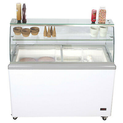 Chefs Exclusive 52 Commercial Ice Cream Dipping Cabinet Display Freezer 8 Tub