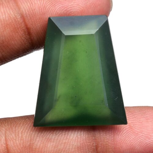 49.00 Cts Natural Serpentine Huge Size Faceted Cut Untreated Loose Gemstone