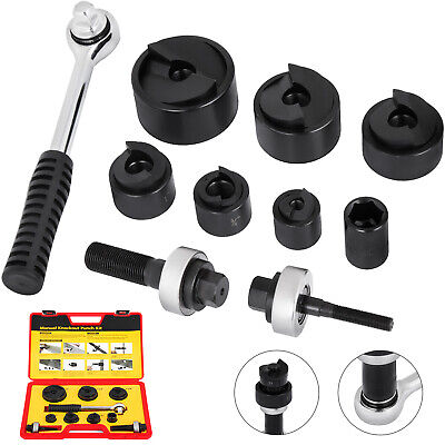 Vevor Cc-60 Knockout Punch Set 12 To 2 6 Dies 10 Gauge W Ratcheting Wrench