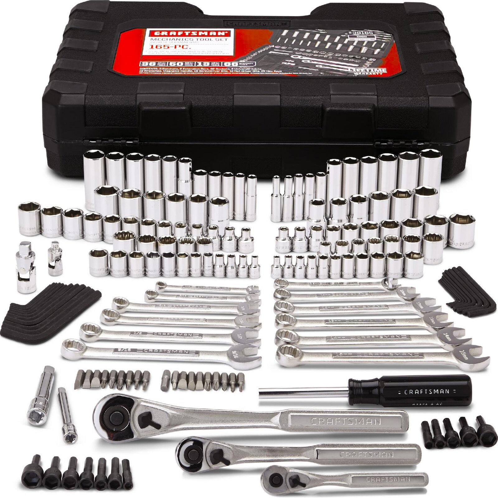 Craftsman 165 Piece 165 pc Mechanics Tool Set Kit Metric Rat