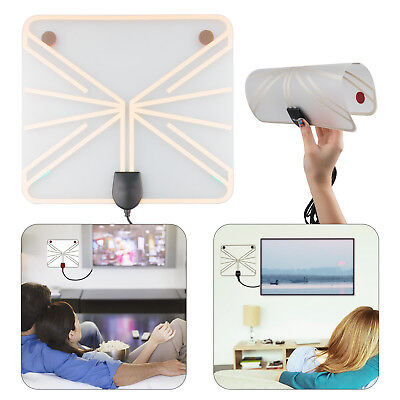 50-100 Mile Range HDTV Antenna Digital Flat Clear View 1080P Amplified Booster