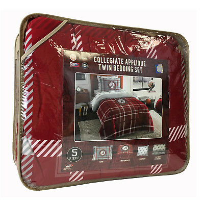 5pc NCAA Alabama Crimson Tide Bedding Comforter Pillowcase Sheet Set Twin Size