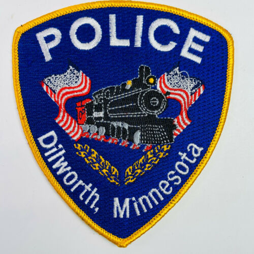 Dilworth Police Clay County Minnesota MN Train American Flag Patch (A2)
