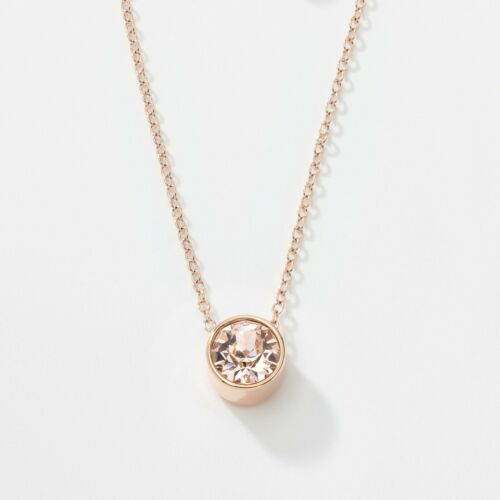 Touchstone Crystal Rosy Necklace Item 4384NF Silk crystal; rose gold ion plating